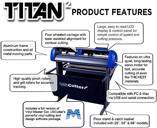 15 uscutter mesa Titan Craft Cortador de vinilo con diseño y ...