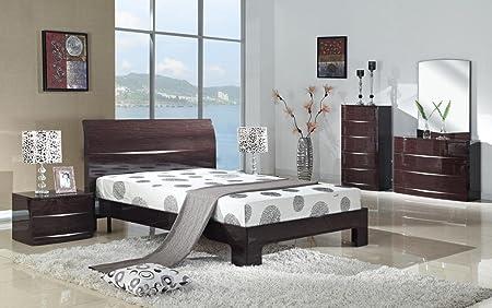 Enjoyable Furniturevilla Arden Cherry High Gloss Wardrobe With 2 Home Interior And Landscaping Ponolsignezvosmurscom