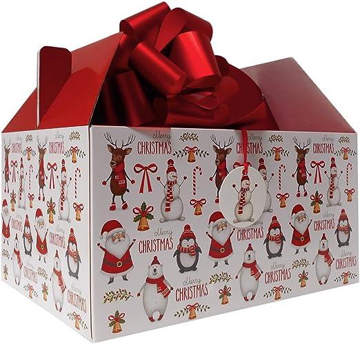 Caja gigante para regalo de Navidad con diseño de Papá Noel ...