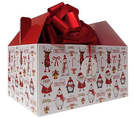 Caja gigante para regalo de Navidad con diseño de Papá Noel, muñ