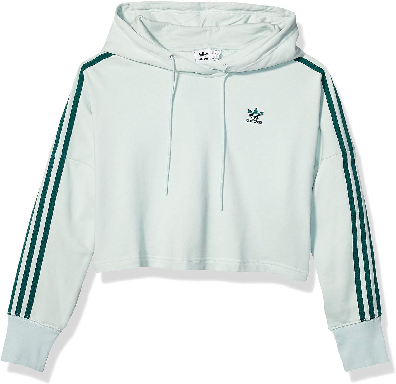 adidas Originals Women's Cropped Hooded Sweatshirt