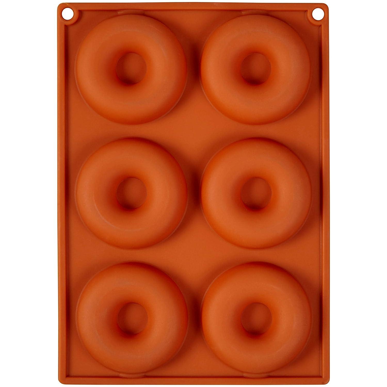 Amazon.com: Wilton Non-stick 6-Cavity Silicone Donut Baking Pan Set, 2-Count: Kitchen & Dining