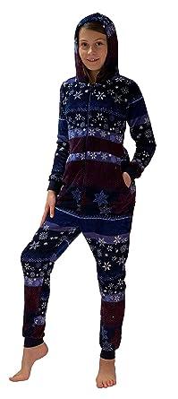 Wählen Sie für späteste preiswert kaufen Gratisversand Mädchen Jumpsuit Overall Schlafanzug Onesie - Norweger Sterne Optik - 281  467 97 951