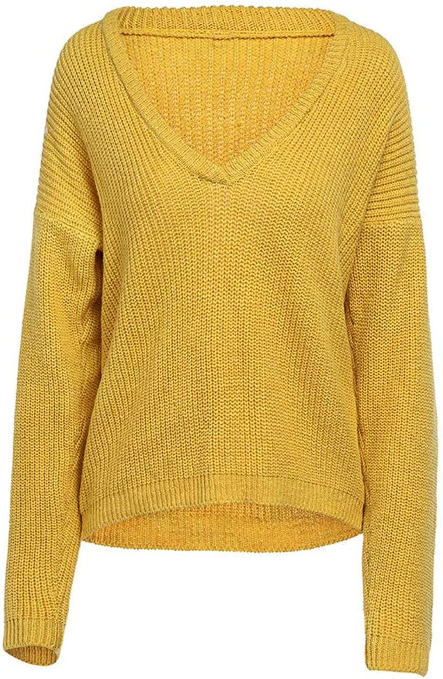 YUNY Mens Knit Comfort Long Sleeve Simple Solid Knitting Sweater 2 L