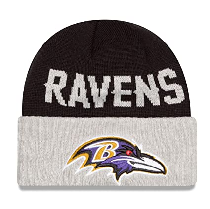 a771a0927e875 Image Unavailable. Image not available for. Color  Baltimore Ravens New Era  NFL Classic Cover Cuffed Knit Hat