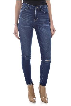 Guess Bleu Femme Jean 1981 Taille Haute