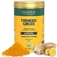 VAHDAM, Organic Turmeric + Ginger Latte, 40 Cups (100g)   USDA Organic Certified Golden Milk Powder with Powerful…