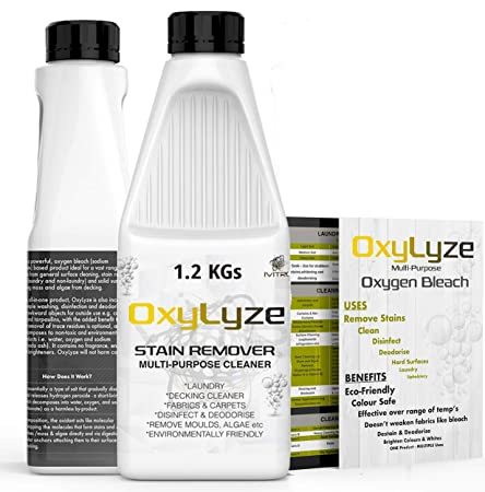 Oxygen Bleach Sodium Percarbonate Stain Remover Oxylyze Decking