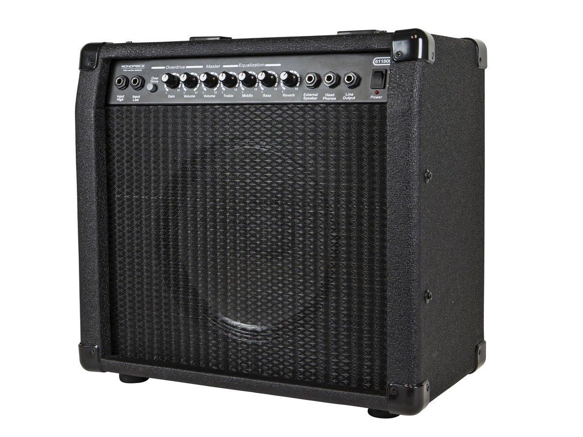 Monoprice 611800 40-Watt 1x10 Guitar Combo Amplifier with Spring Reverb
