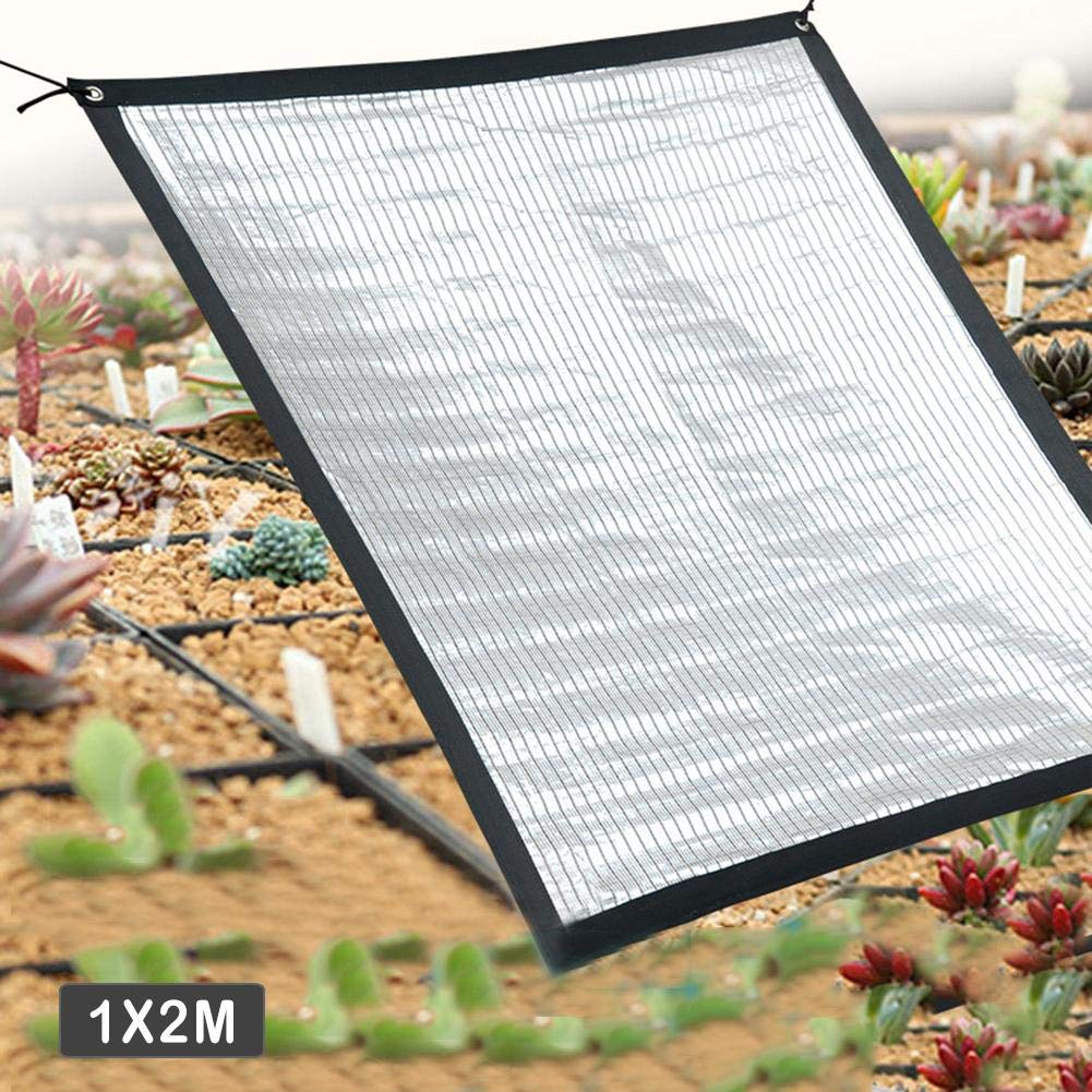 Shade Cloth 70 Sunblock Shade Cloth Net Reflective Aluminum foil Insulation Cooling Sunscreen Shade net for Plant Cover,Greenhouse Flowers, Plants, Patio Lawn