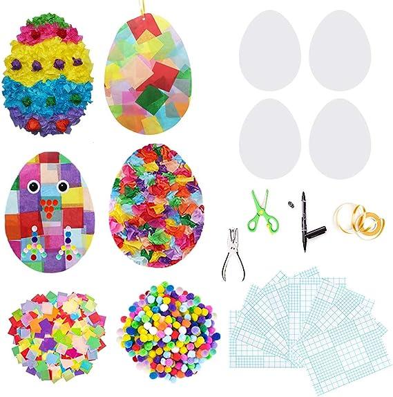 Easter Suncatcher Jesus Fish Suncatcher 5 minute crafts Mosaic Art DIY Suncatcher Kit Cross Suncatcher