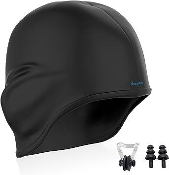 Earwaves ® H2O - Gorro de natación ergonómico con cavidad para ...