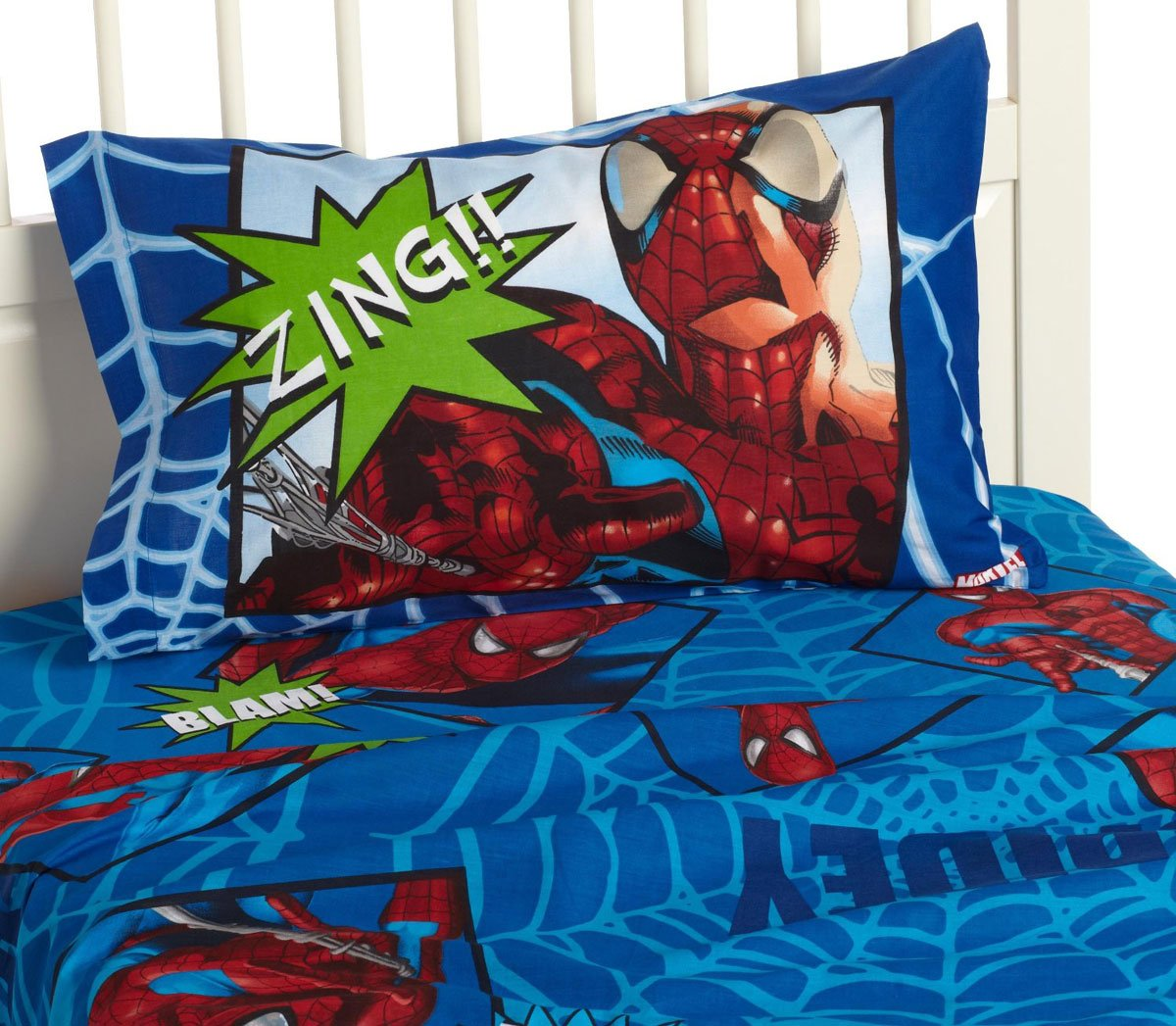 Spiderman and friends bedding - Amazon Com The Amazing Spider Man Full Sheet Set Cotton Rich Home Kitchen
