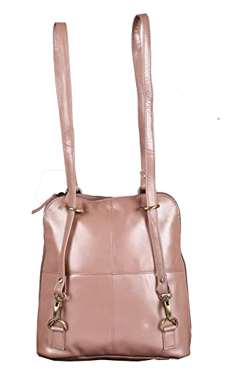 850bd3013574 Buy Sumannya Genuine Leather Pink Ladies Handbag Backpack Online at Low  Prices in India - Amazon.in