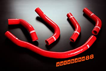 Autobahn88 Radiator Coolant & Heater Silicone Hose Kit for 1989-1999 Toyota MR2 SW20 3S