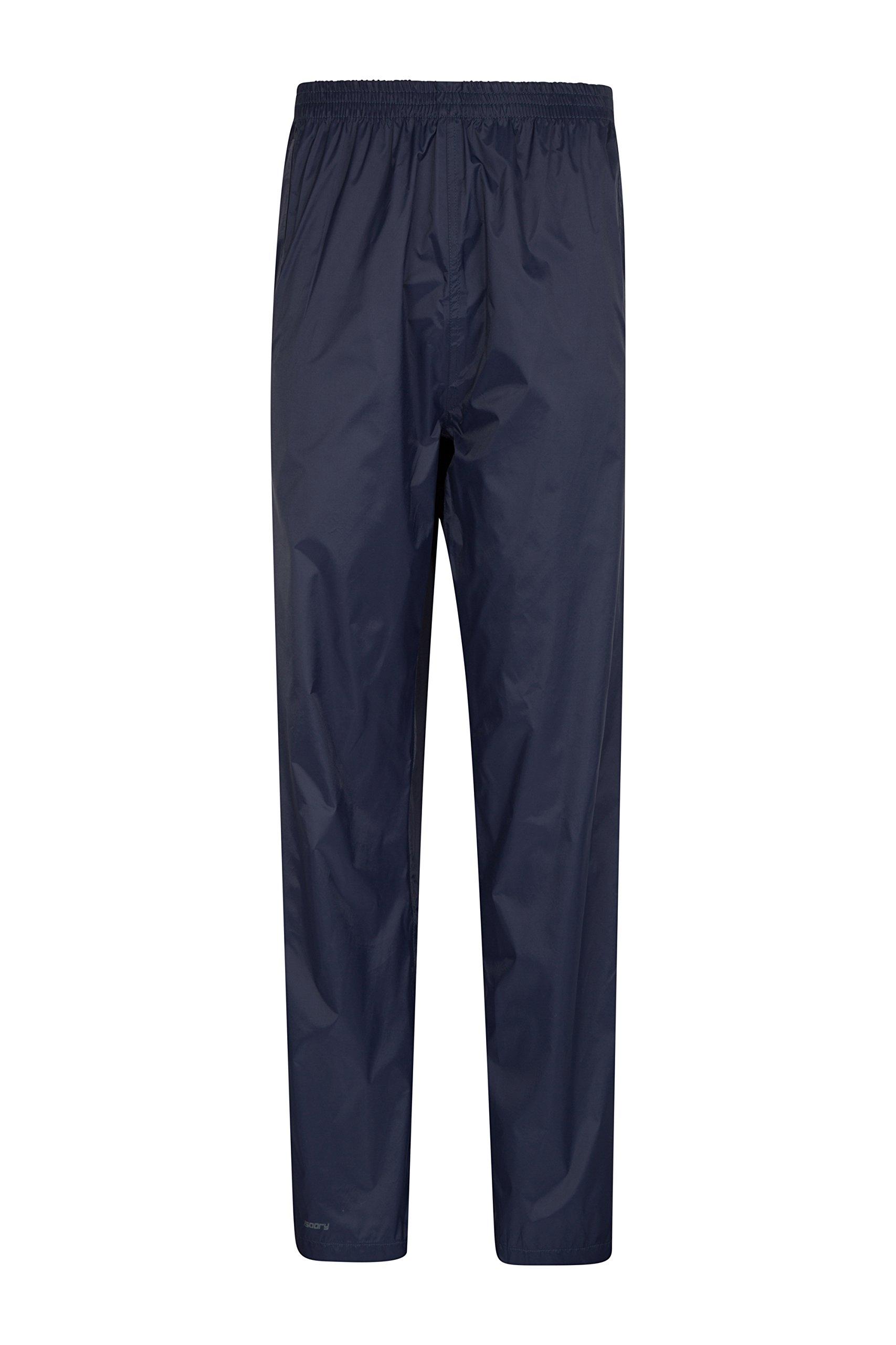 Mountain Warehouse Pakka Womens Rain Pants -Waterproof Ladies Pants Navy 2