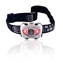 Brightest & Best Headlamp Flashlight with Red LED Light