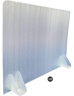 KMINA - Mampara Manicura, Mampara Protectora Mesa Manicura, Mampara Manicurista de PVC Transparente y Aluminio DIBOND de Calidad, Fabricado en España (70 cm x 62cm): Amazon.es: Salud y cuidado personal