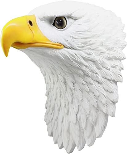 Ebros Large Majestic Bald Eagle Wall Decor 15″Tall Mounted American Eagle Bust Sculpture Wings Of Glory Eagle Wall Plaque Symbol of Strength Honor Longevity Emblem Of United States Of America