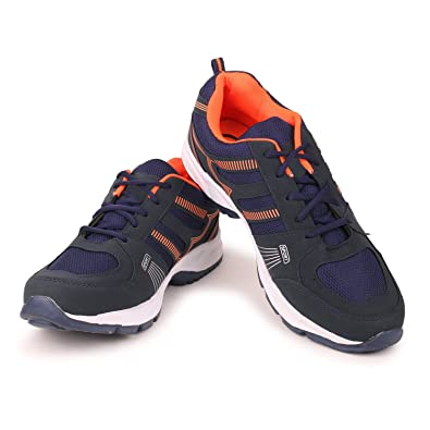 4215ceaea1537 Extavo Men Big Size Adr Blue Orange Running Sports Shoes: Buy Online at Low Prices  in India - Amazon.in