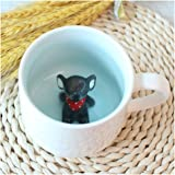 3D Cute Cartoon Miniature Animal Figurine Ceramics Coffee Cup - Baby Elephant Inside, Best Office Cup & Birthday Gift (Elephant)
