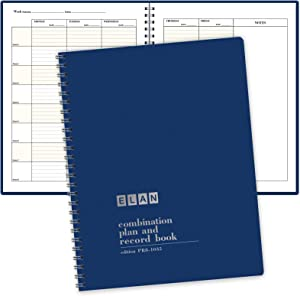 Combination Plan and Record Book - 8 Period Teacher Lesson Planner (PR8-1035) (Blue)