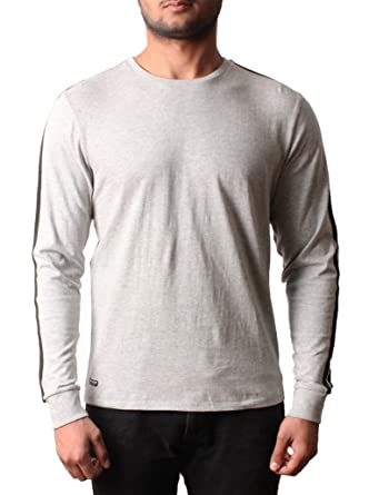 dcec935b3b Threadbare Mens Long Sleeve Cotton Top T-Shirt Striped Crew Neck Casual  Runner: Amazon.co.uk: Clothing