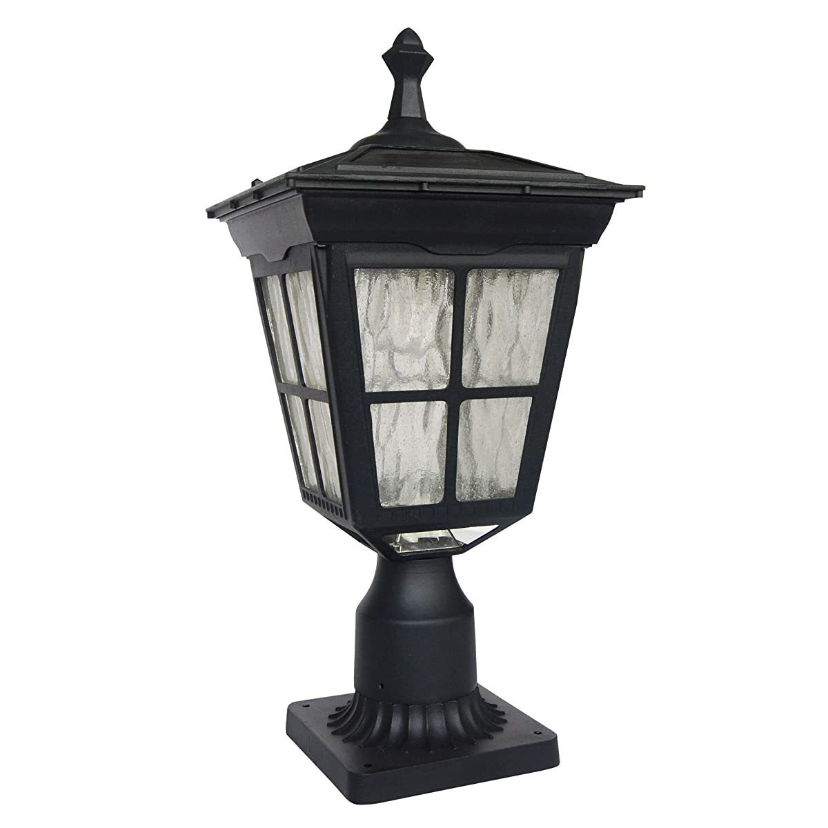 Kemeco ST4311AQ LED Cast Aluminum Solar Post Light Fixture with 3-Inch Fitter Base for Outdoor Garden Post Pole Mount