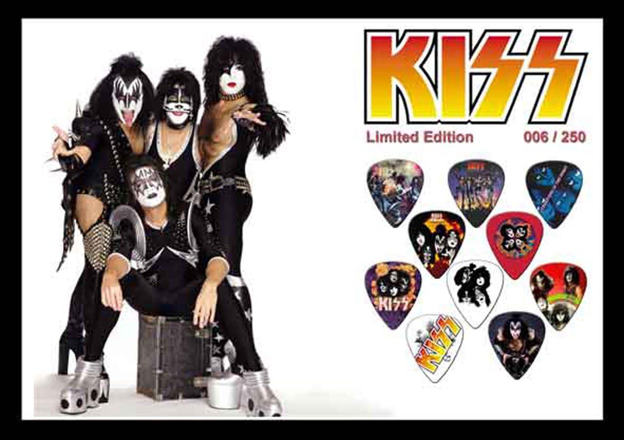 Kiss – púas para guitarra pantalla grande A4): Amazon.es ...
