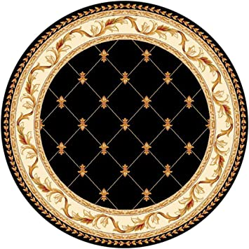 kas oriental rugs corinthian collection fleurdelis round area rug 7u0027