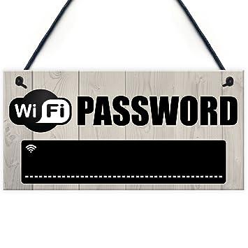Amazon.com: WiFi contraseña pizarrón regalo de inauguración ...