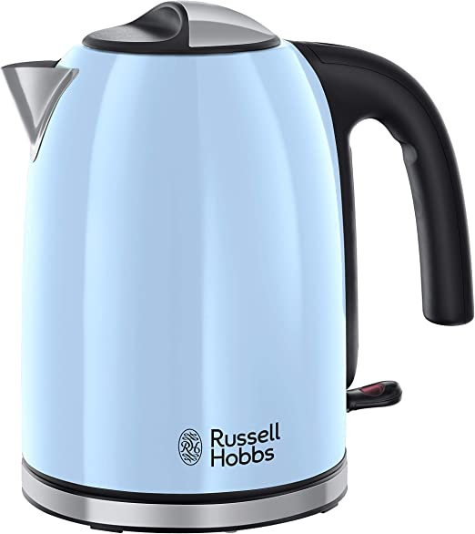 Russell Hobbs Colours Plus Hervidor de Agua Eléctrico (2400 W, 1,7l, Acero Inoxidable, Azul Cielo) ref. 20417 70