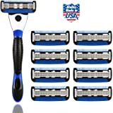 Spruce Shave Club 5X Shave Set (1 Razor Handle + Pack of 8 Cartridges)