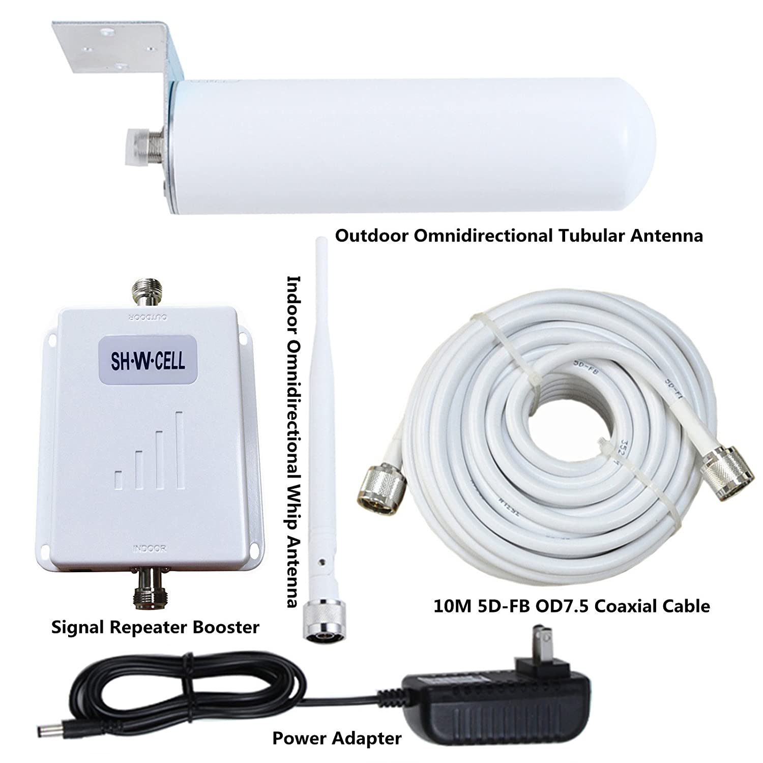at&T T-Mobile Cell Phone Signal Booster 4G LTE Band12/17 Cell Phone Signal Amplifier ATT Cell Phone Booster Home SHWCELL Mobile Signal Repeater Dual Panel Antennas Kit DDCP1011