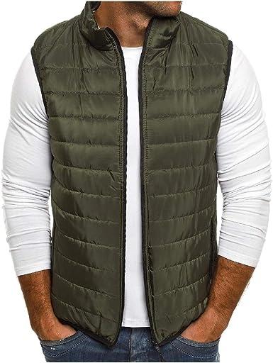 WSPLYSPJY Mens Winter Down Vest Warm Down Light Weight Packable Jacket Vest