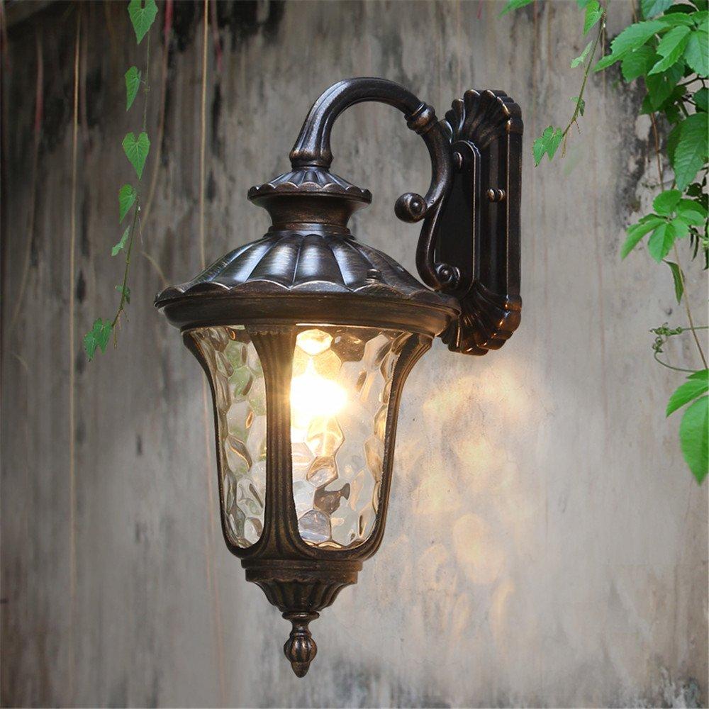 MMYNL Moderne E27 Antik Wandlampe Vintage Wandlampen Wandleuchten für Schlafzimmer Wohnzimmer Bar Flur Bad Küche Balkon Im Freien wasserdichtes Garten-Licht 3002 Garten-Licht (22  35.5CM) Wandleuchte