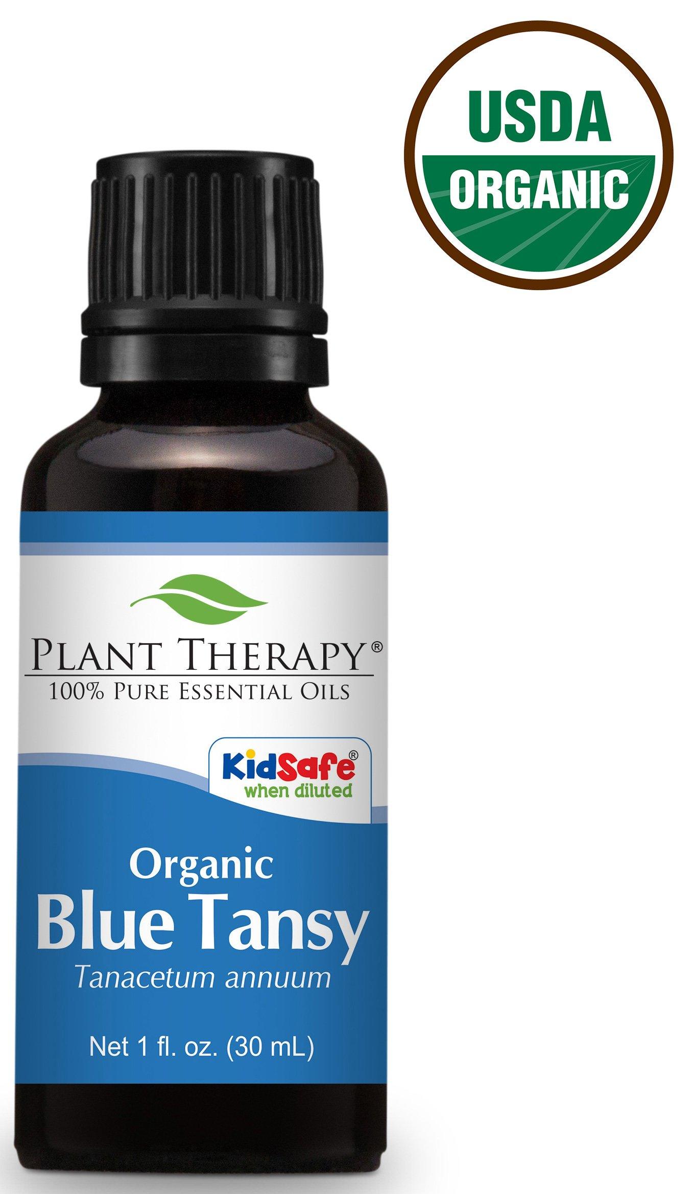 Plant Therapy USDA Certified Organic Blue Tansy Essential Oil. 100% Pure, Undiluted, Therapeutic Grade. 30 ml (1 oz). by Plant Therapy (Image #1)