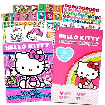 Amazon.com: Hello Kitty Stickers U0026 Tattoos Party Favor Pack (216 Stickers U0026  50 Temporary Tattoos): Toys U0026 Games