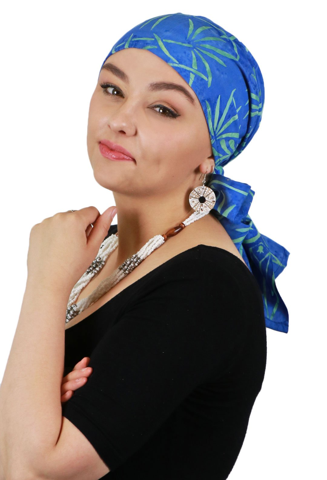 Head Scarf for Women Cancer Headwear Chemo Scarves Headscarves Headcovers 15 X 60 (Pacific Fern)