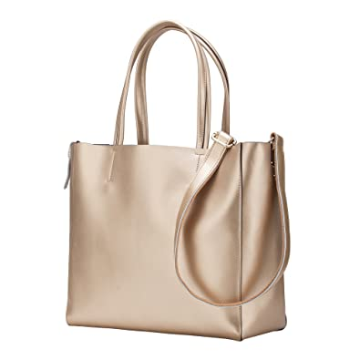 f1d42845a4 Amazon.com  KEEPBLANCE Women s Leather Handbags Soft Shoulder Bags Totes  Large Capacity  Shoes