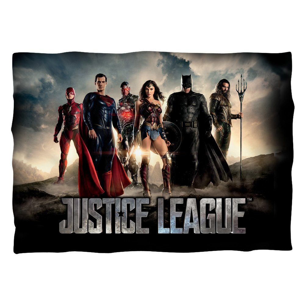 Justice League Movie Time for Heroes Pillow Case