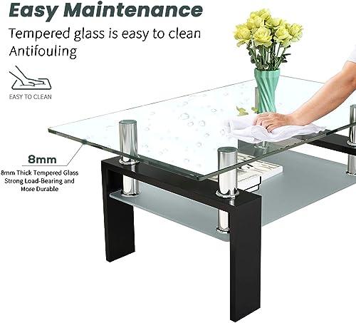 DKLGG Glass Coffee Table