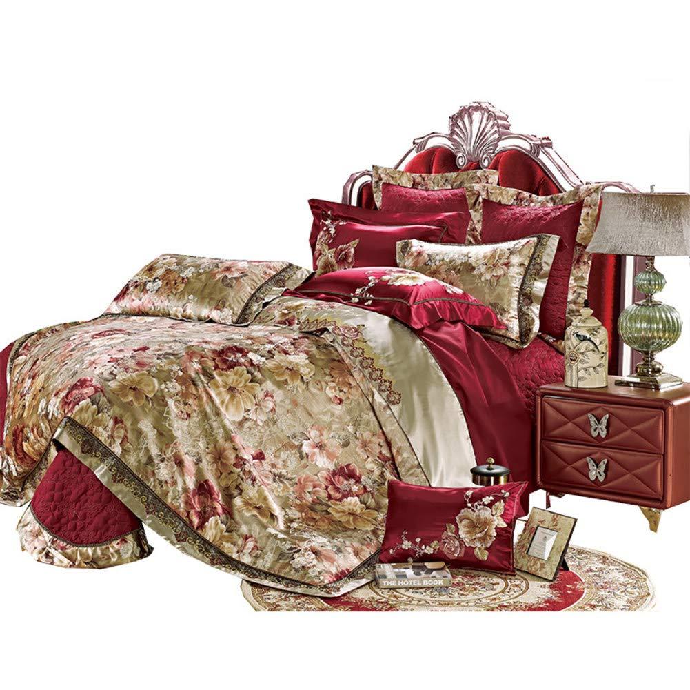 ウルトラソフト ファイバー ベッド 掛け布団, 10 個セット 寝具カバーセット しわ 耐フェード シート 枕カバー 洗濯機-A B07NWFCRJT