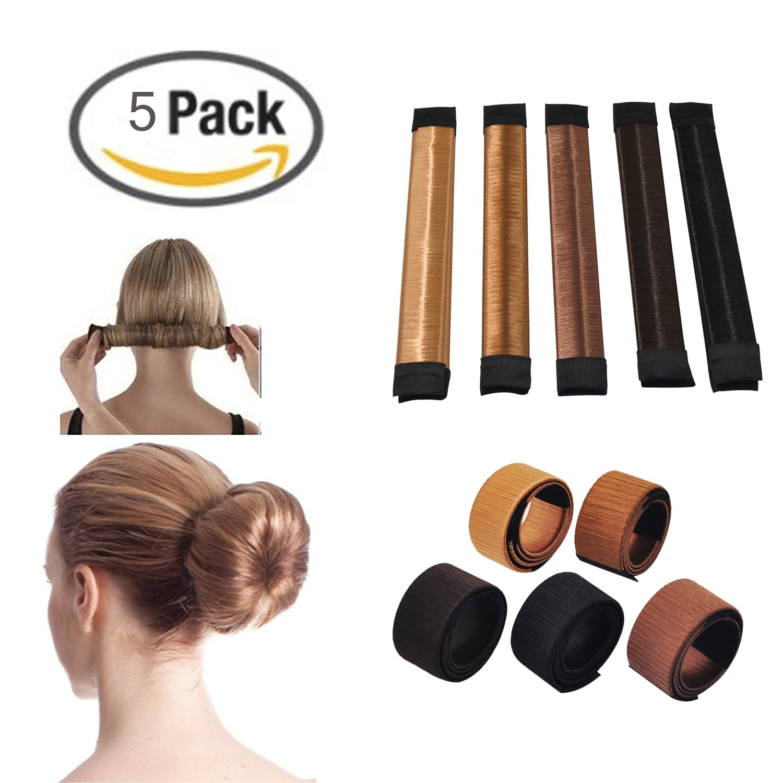 Amazon Jiaqee 5pcs Bun Maker Diy Women Girls Hair Fold Wrap