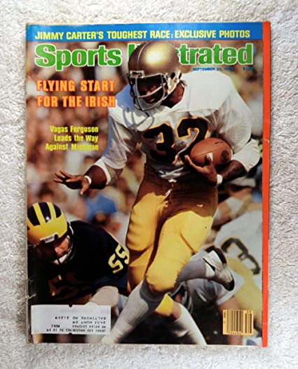 102f81bf89a Amazon.com: Vagas Ferguson - Notre Dame Fighting Irish - Sports Illustrated  - September 24, 1979 - College Football - SI: Sports Collectibles