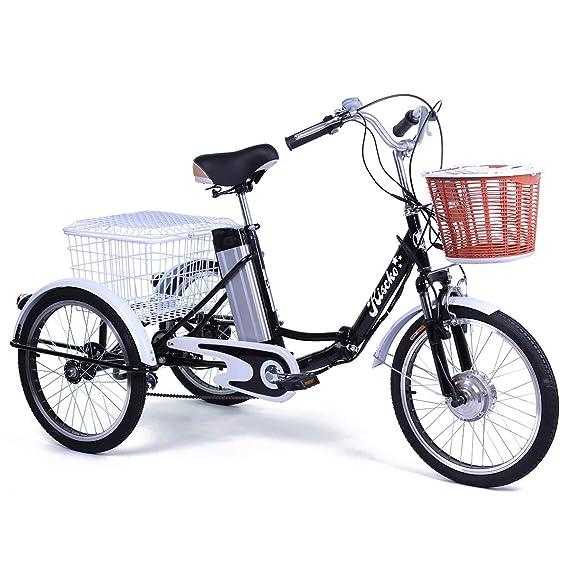 Grupo K-2 Triciclo Eléctrico para Adultos con Dos cestas: Amazon.es: Deportes y aire libre