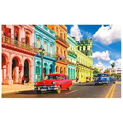 CHEERM Fantasy Puzzles for Adults 500 Piece, Colorful Street Landscape Difficult Puzzles Jigsaw Home Decoration Puzzle Children Floor Jigsaw Puzzle Toy: Home & Kitchen