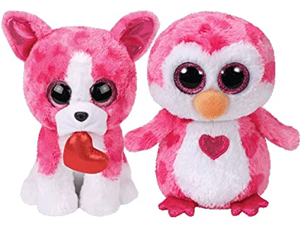 Amazon.com  Ty 2018 Valentine Set of Two Beanie Boos - ROMEO ... cdd4e66949d