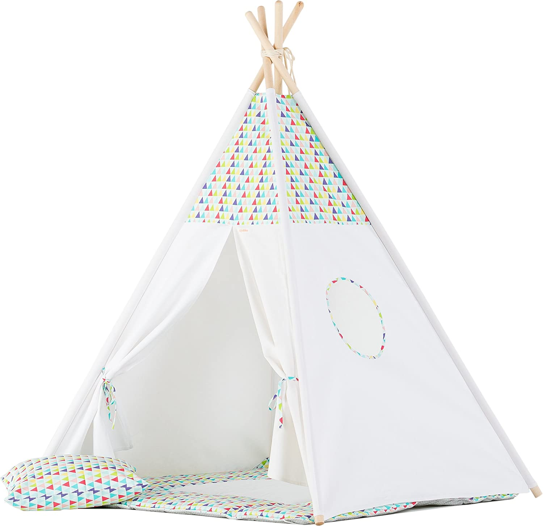 wigiwama Kids Teepee-Set - Design Bunte Dreiecke