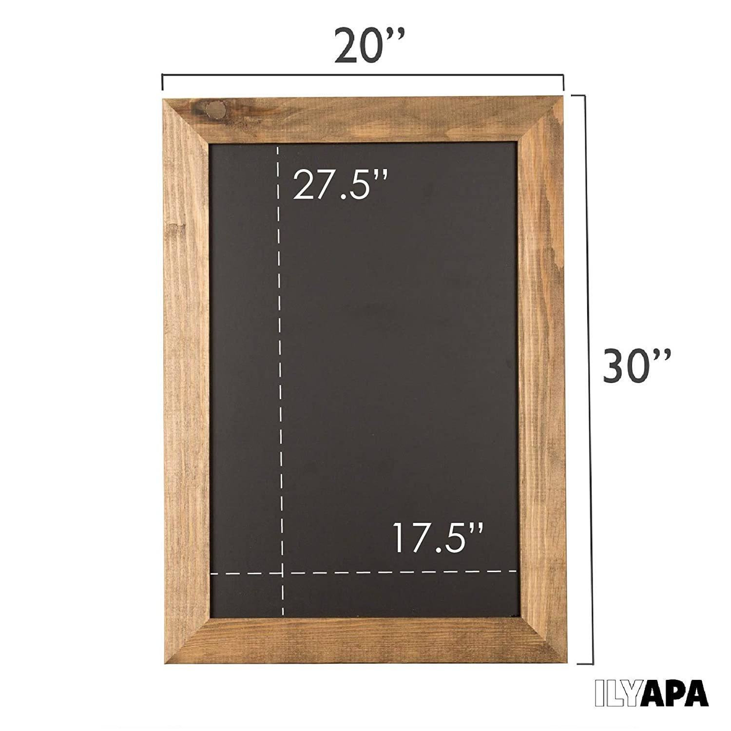 10x14 Inch Brown Framed Hanging Chalk Board for Farmhouse Decor Restaurant /& Home Wedding Rustic Wooden Magnetic Kitchen Chalkboard Sign